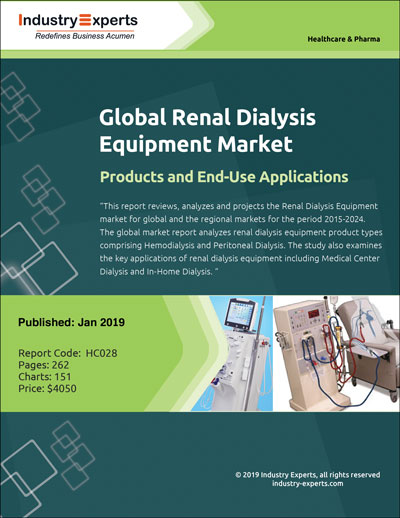 Market for Renal Dialysis Equipment to Grow by 5.9% through to 2024.