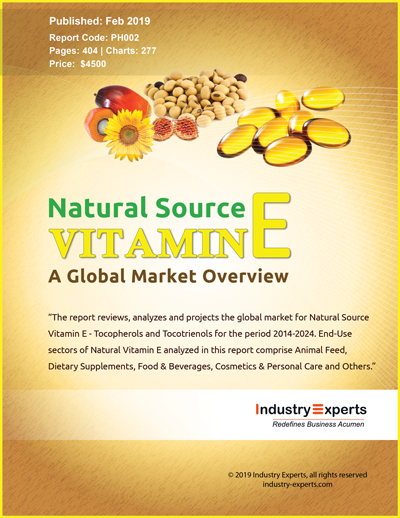 Global Demand for Natural Source Vitamin E to Reach 17K Metric Tons by 2024